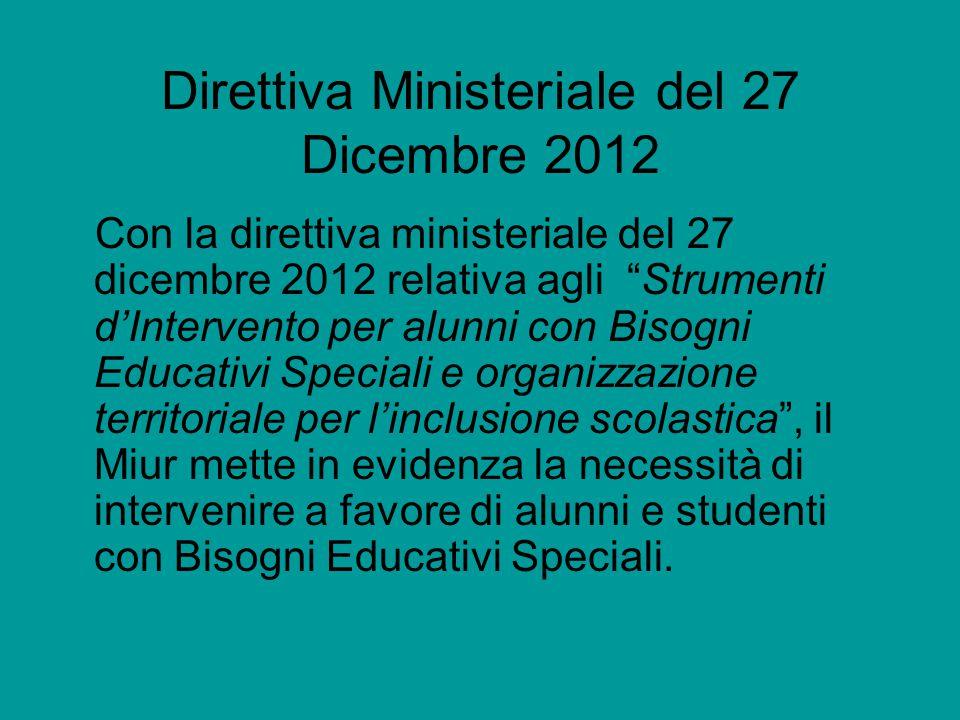 Direttiva Ministeriale del 27 Dicembre 2012