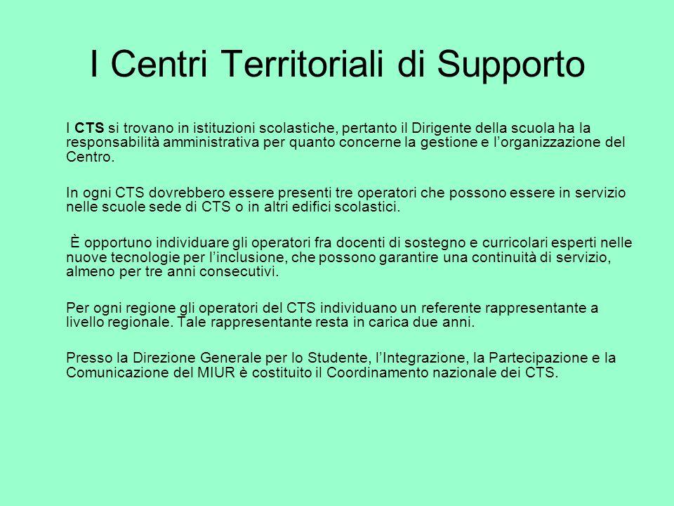 I Centri Territoriali di Supporto
