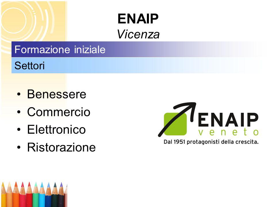 ENAIP Vicenza Benessere Commercio Elettronico Ristorazione