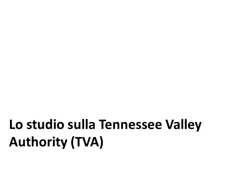 Lo studio sulla Tennessee Valley Authority (TVA)