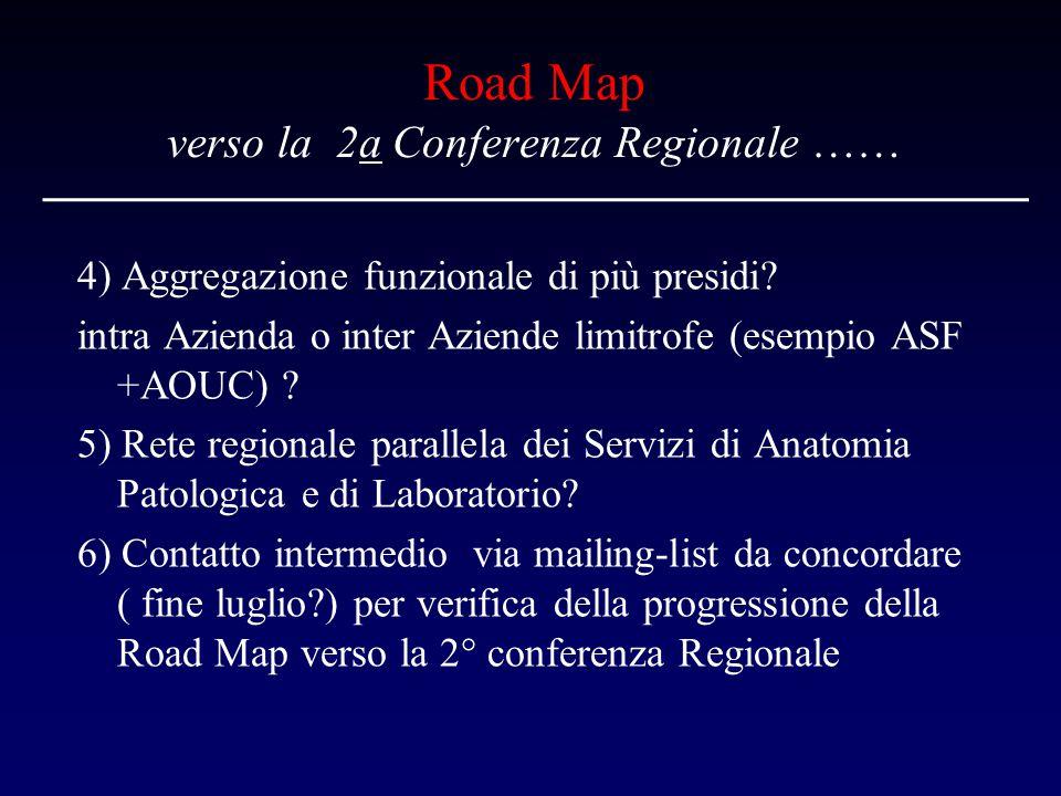 Road Map verso la 2a Conferenza Regionale ……