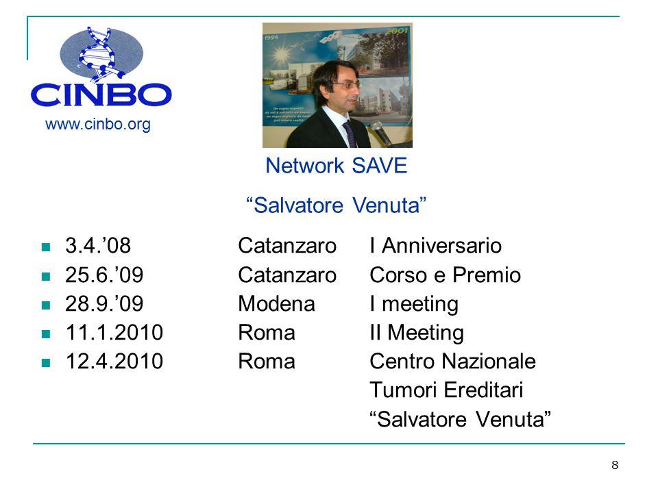 3.4.'08 Catanzaro I Anniversario 25.6.'09 Catanzaro Corso e Premio