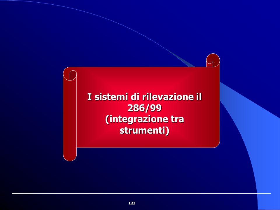 I sistemi di rilevazione il 286/99 (integrazione tra strumenti)