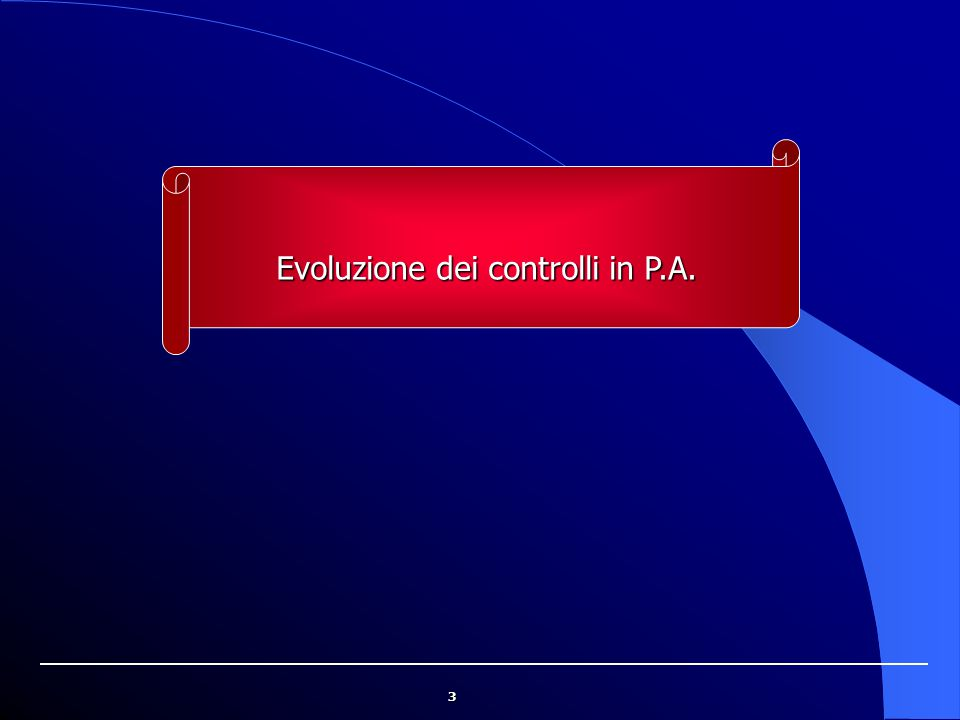 Evoluzione dei controlli in P.A.