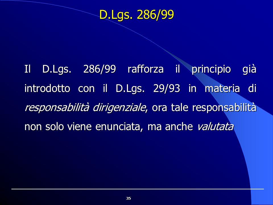 D.Lgs. 286/99