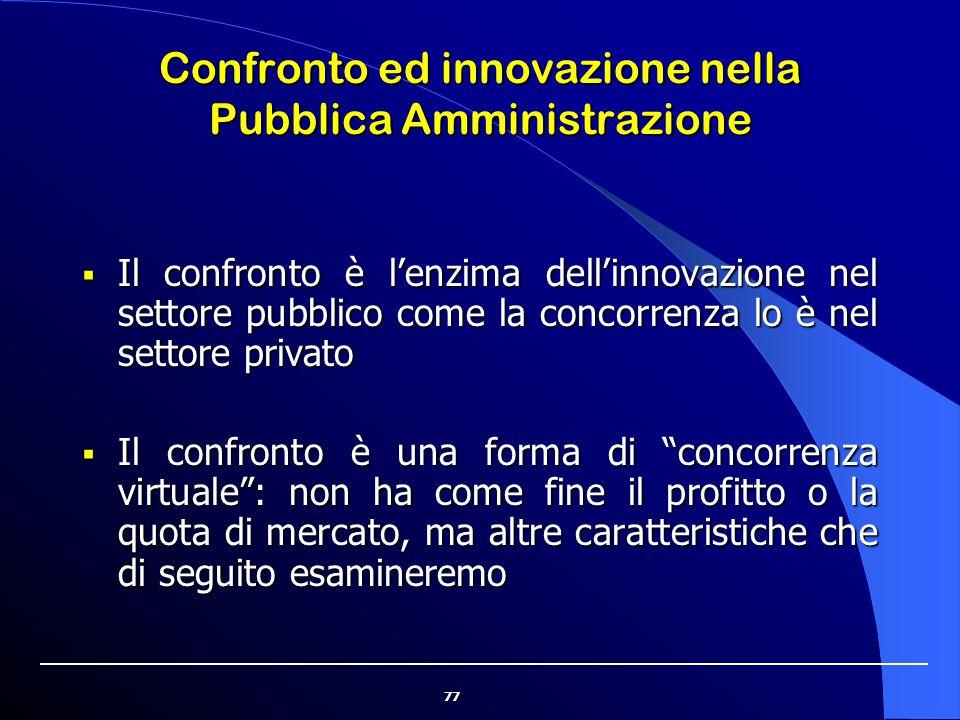 Confronto ed innovazione nella Pubblica Amministrazione