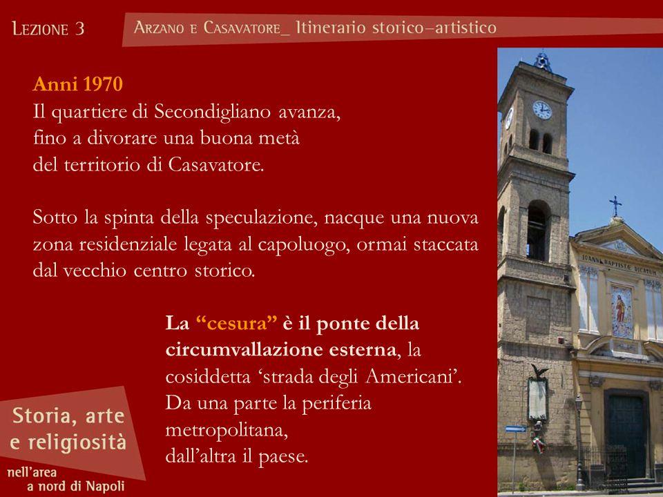 Anni 1970 Il quartiere di Secondigliano avanza, fino a divorare una buona metà. del territorio di Casavatore.