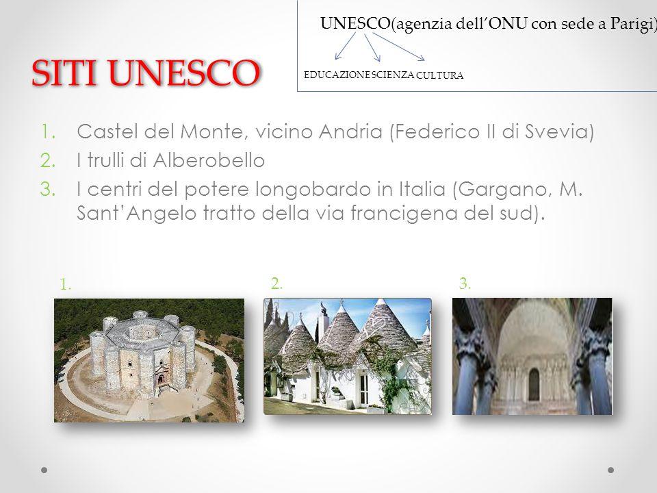 SITI UNESCO Castel del Monte, vicino Andria (Federico II di Svevia)
