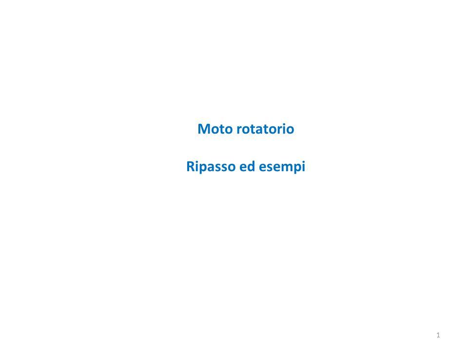 Moto rotatorio Ripasso ed esempi