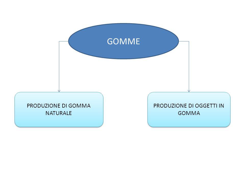 GOMME PRODUZIONE DI GOMMA NATURALE PRODUZIONE DI OGGETTI IN GOMMA