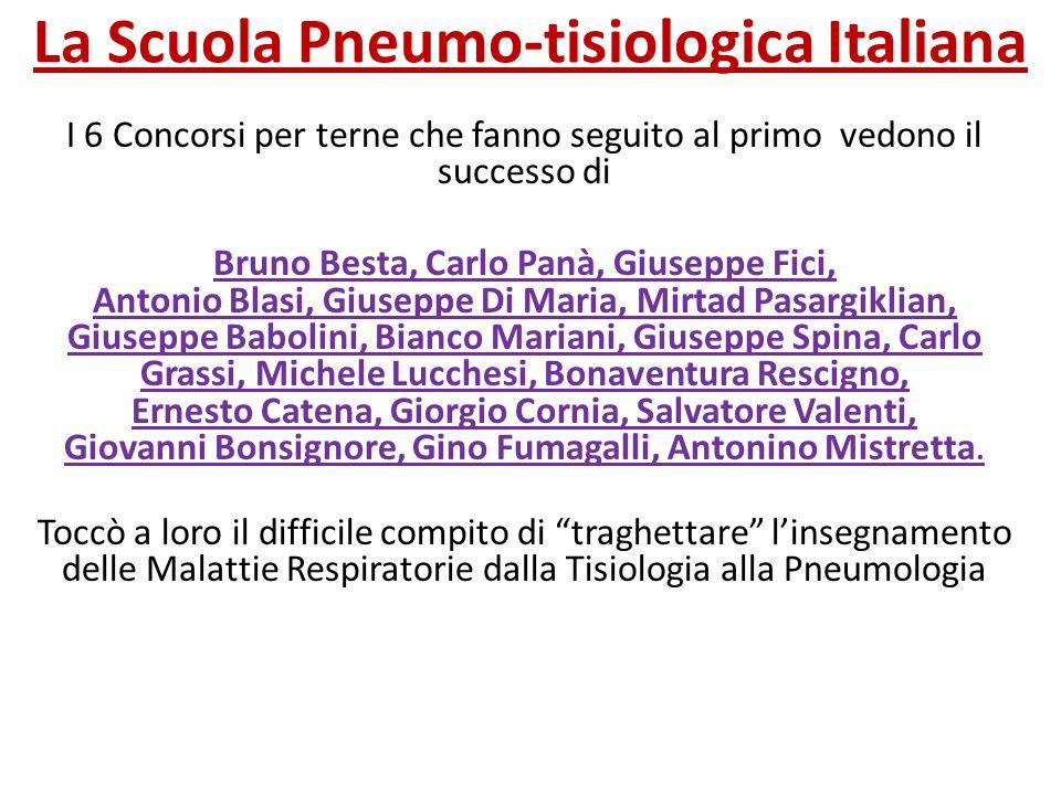La Scuola Pneumo-tisiologica Italiana