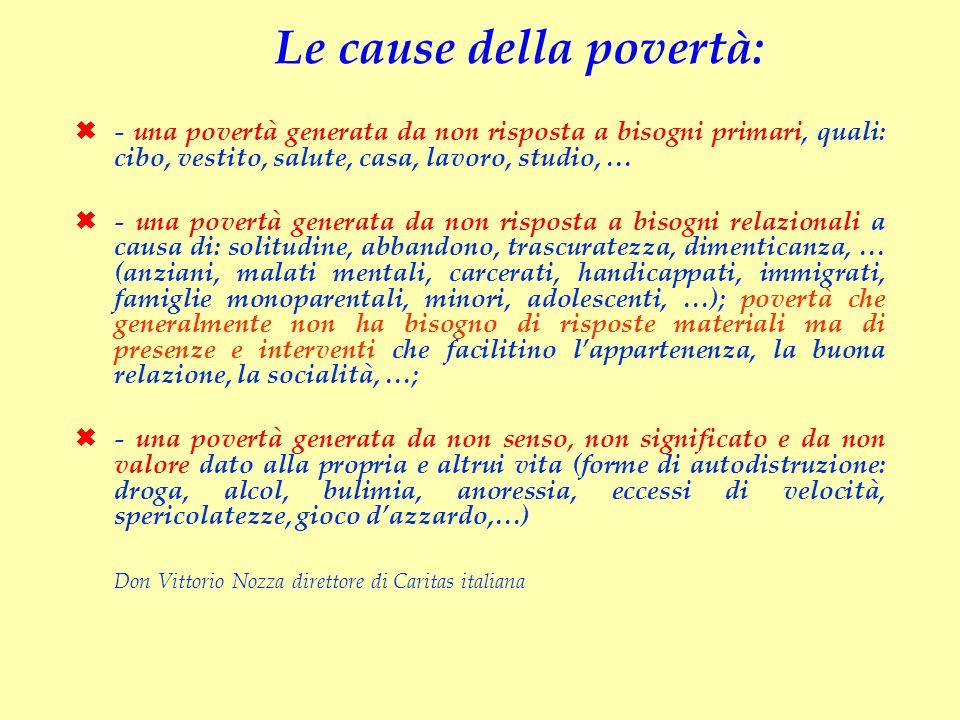 Le cause della povertà: