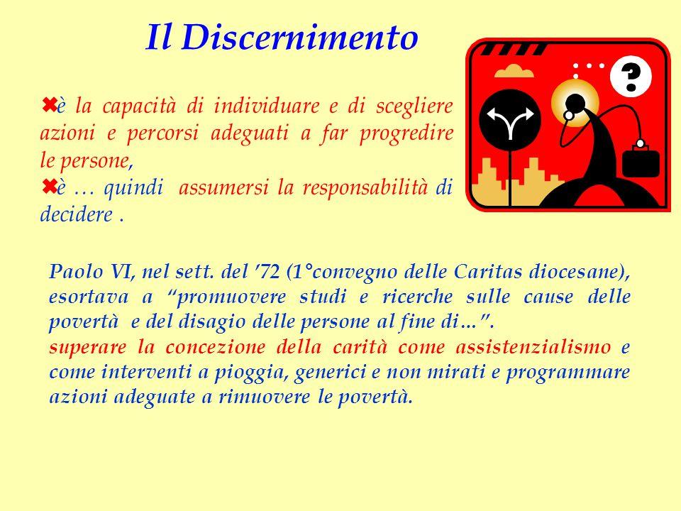 Il Discernimento è la capacità di individuare e di scegliere azioni e percorsi adeguati a far progredire le persone,