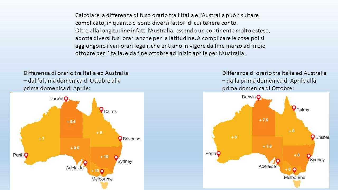 Calcolare la differenza di fuso orario tra l'Italia e l'Australia può risultare complicato, in quanto ci sono diversi fattori di cui tenere conto.