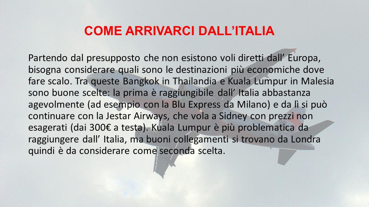 COME ARRIVARCI DALL'ITALIA