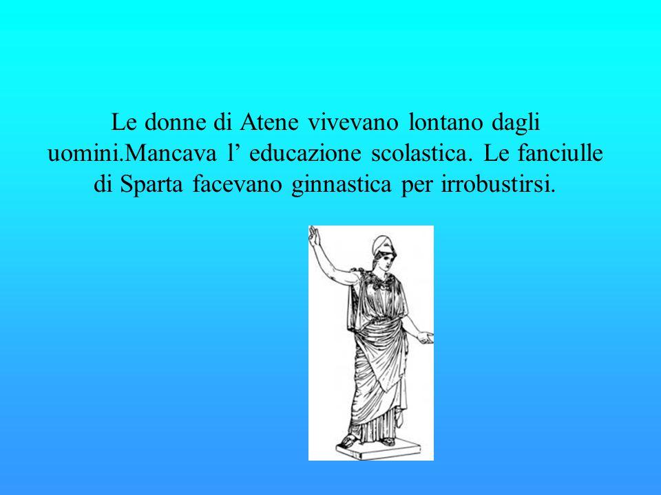 Le donne di Atene vivevano lontano dagli uomini