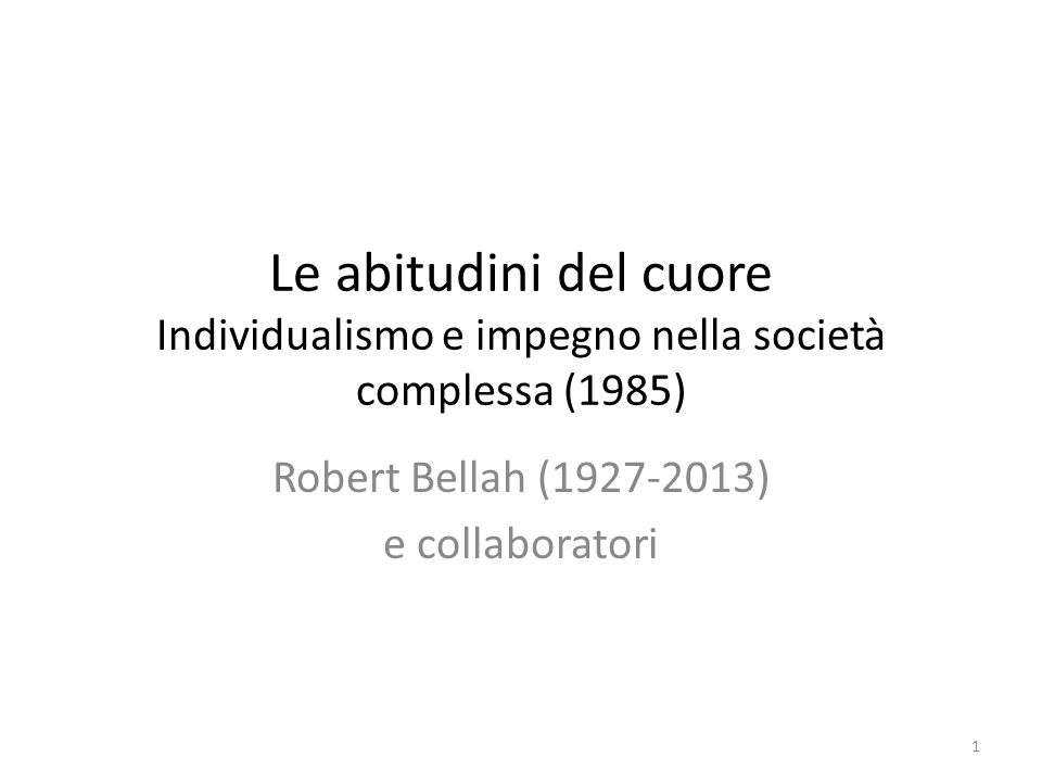 Robert Bellah (1927-2013) e collaboratori