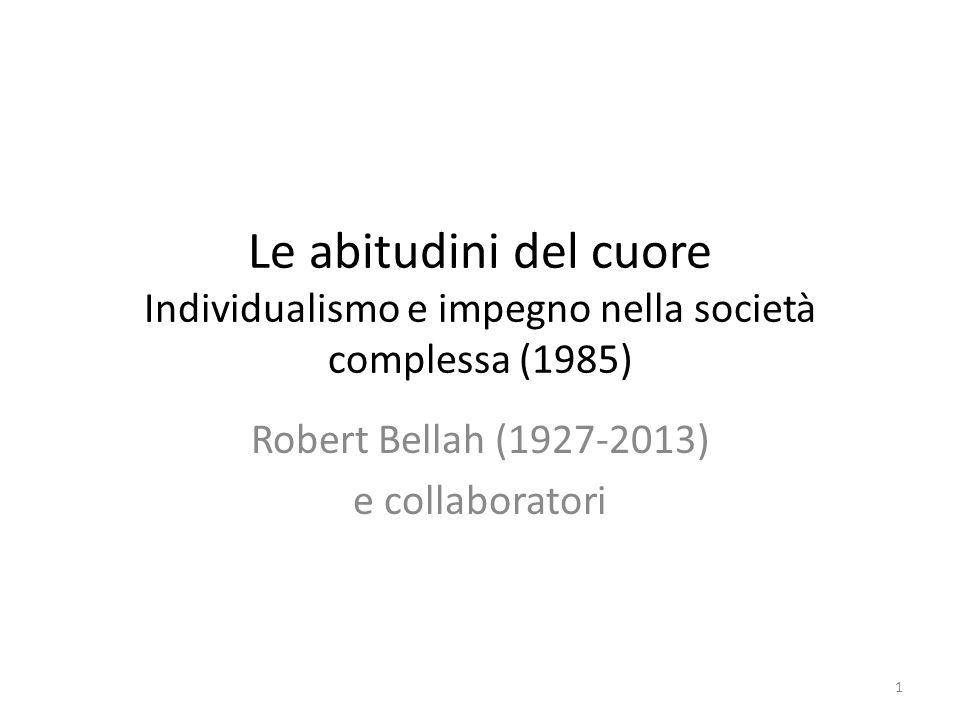 Robert Bellah (1927-2013) e collaboratori