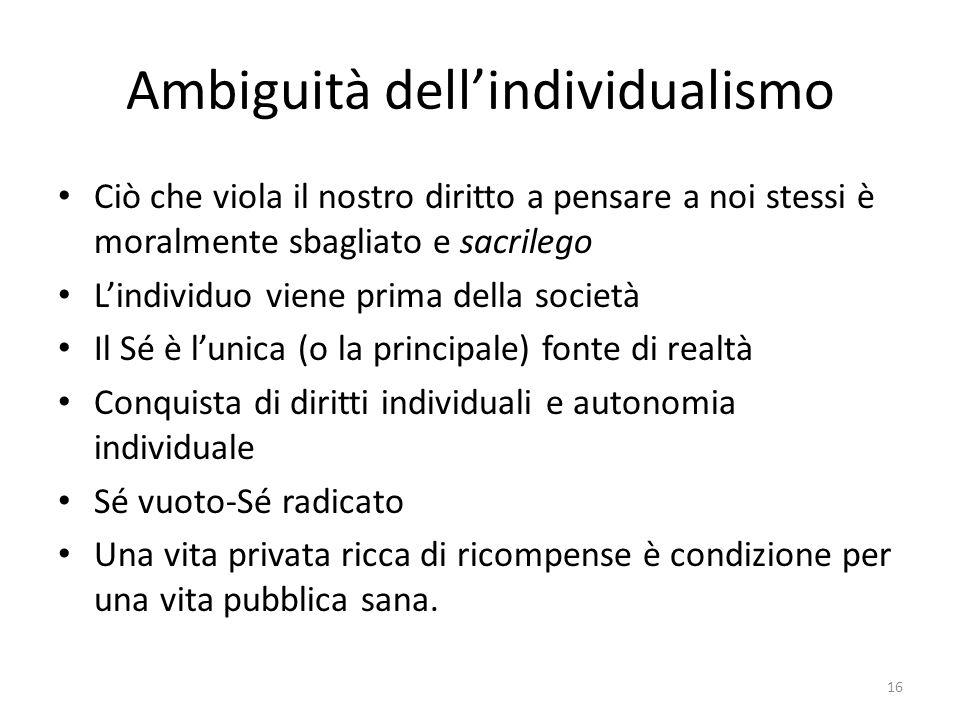 Ambiguità dell'individualismo
