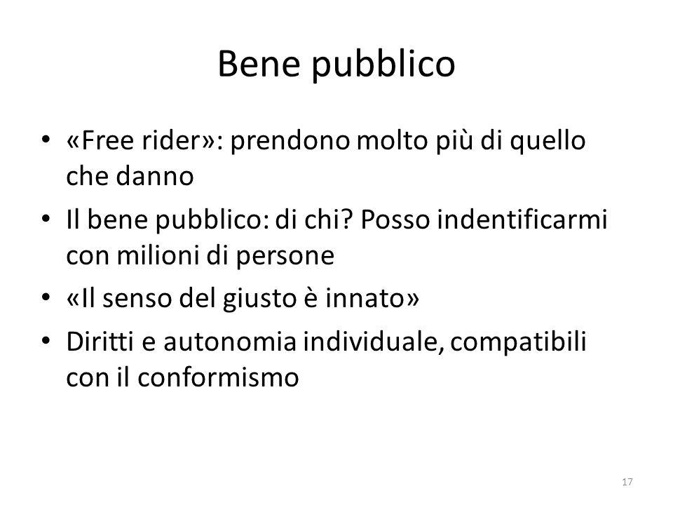 Bene pubblico «Free rider»: prendono molto più di quello che danno