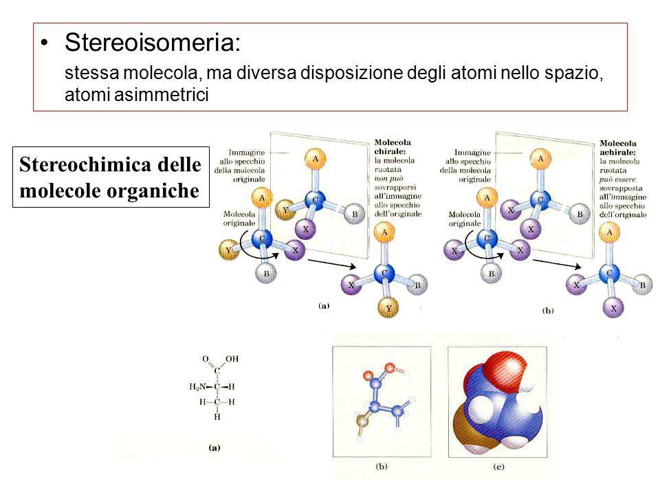 Stereoisomeria: Stereochimica delle molecole organiche
