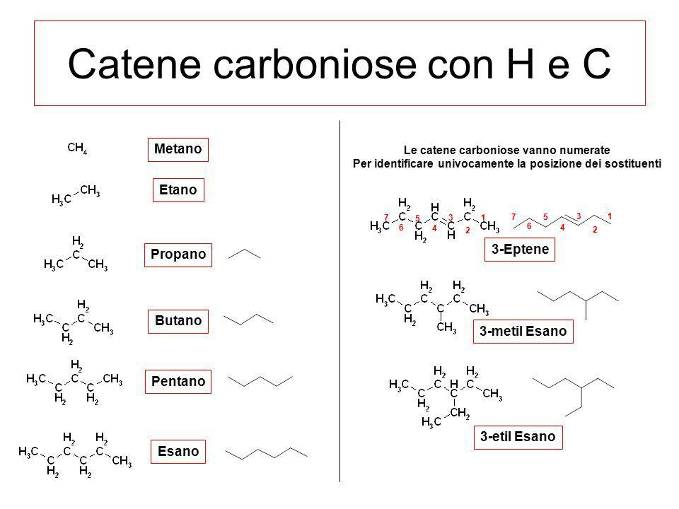 Catene carboniose con H e C