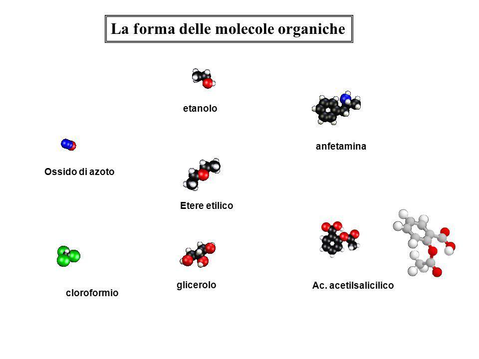 La forma delle molecole organiche