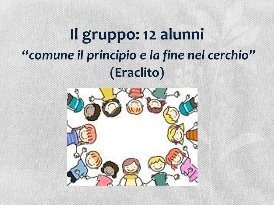 Il gruppo: 12 alunni comune il principio e la fine nel cerchio (Eraclito)