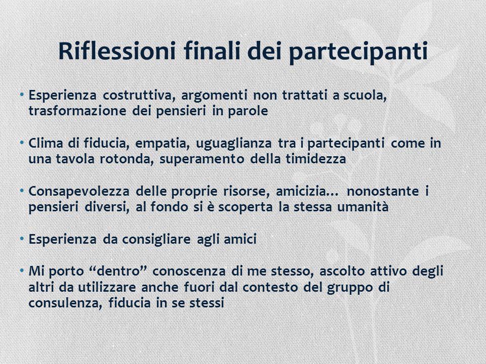 Riflessioni finali dei partecipanti