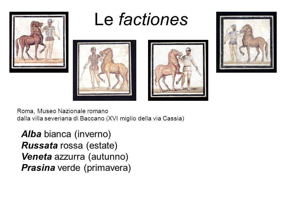 Le factiones Alba bianca (inverno) Russata rossa (estate)