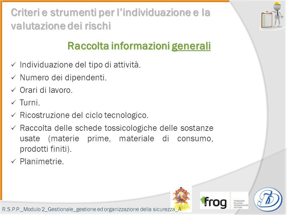 Raccolta informazioni generali