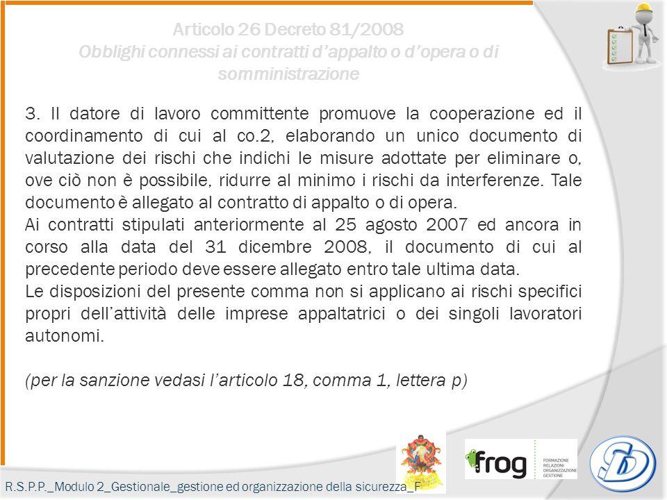 (per la sanzione vedasi l'articolo 18, comma 1, lettera p)