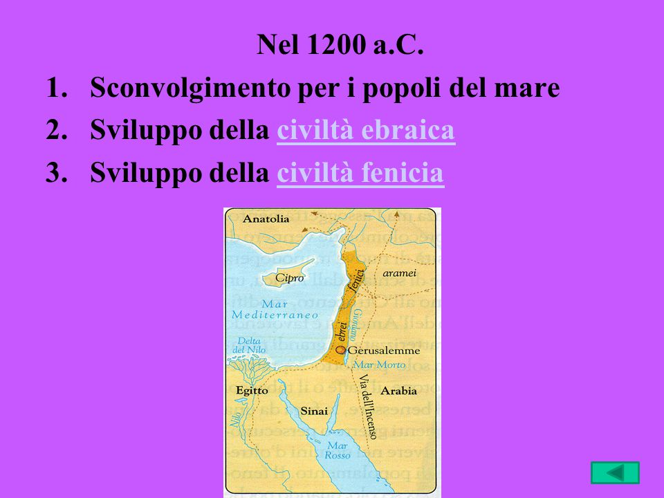 Nel 1200 a.C. Sconvolgimento per i popoli del mare.