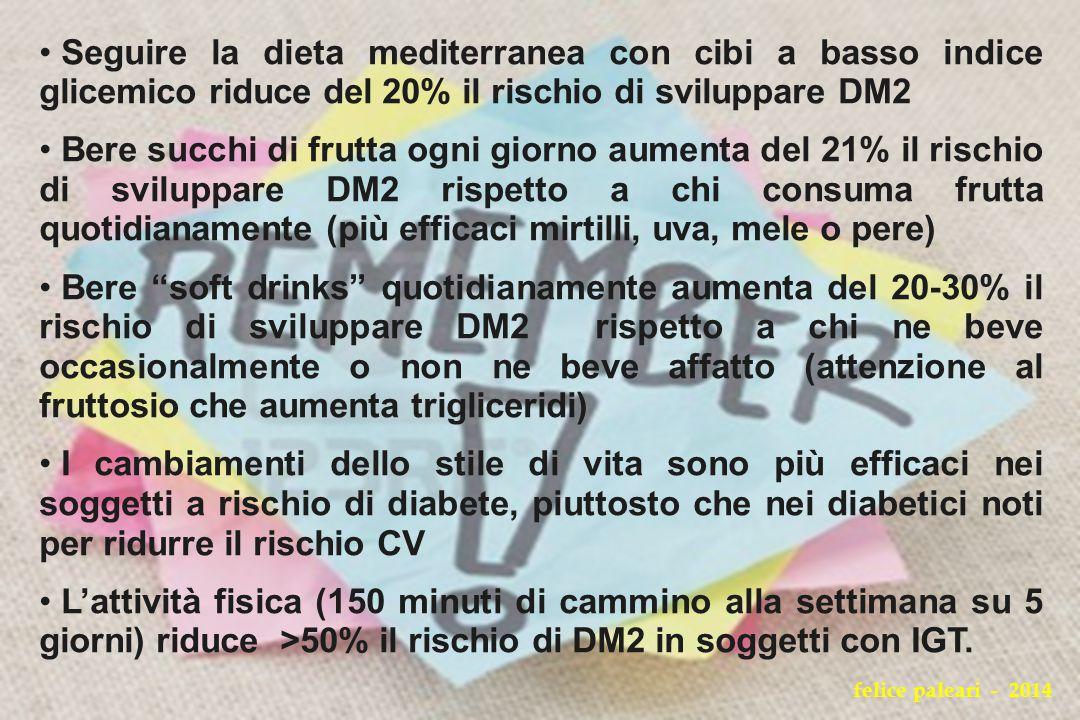 Seguire la dieta mediterranea con cibi a basso indice glicemico riduce del 20% il rischio di sviluppare DM2