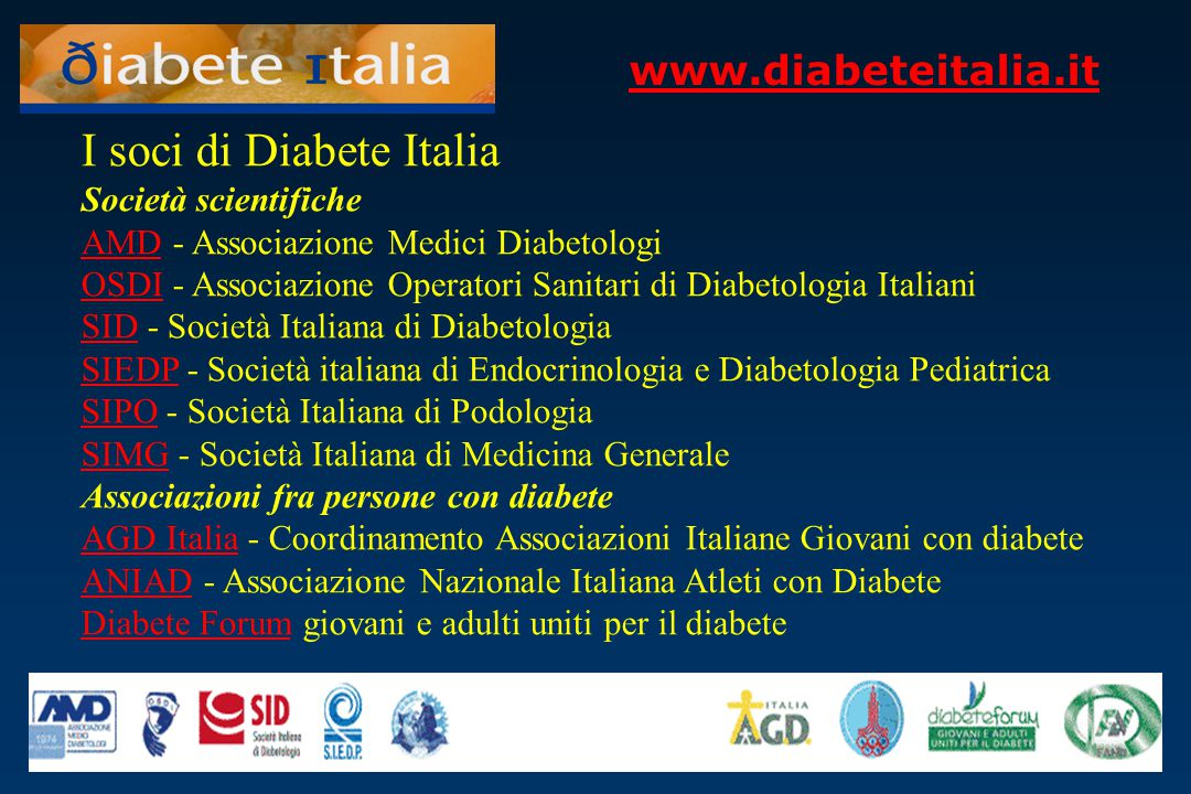 I soci di Diabete Italia