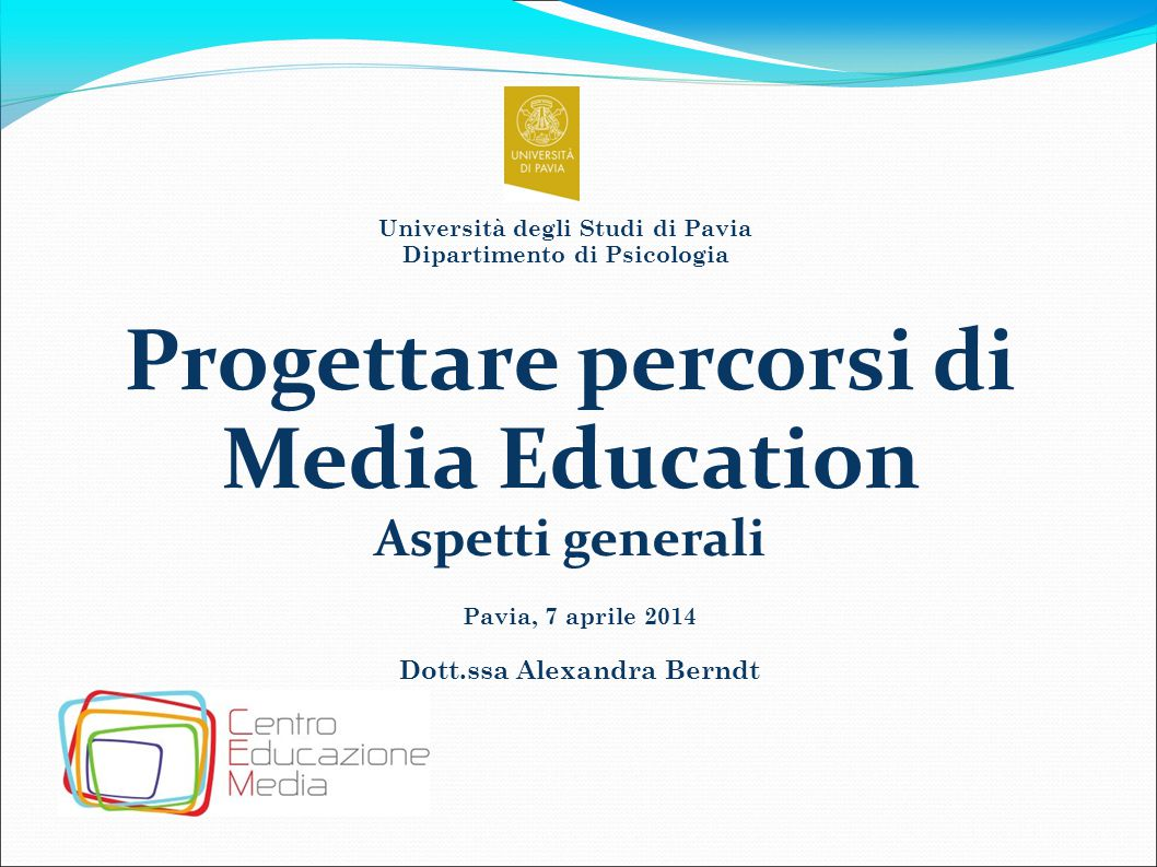 Progettare percorsi di Media Education
