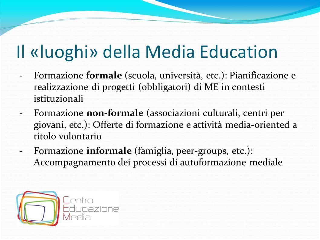 Il «luoghi» della Media Education