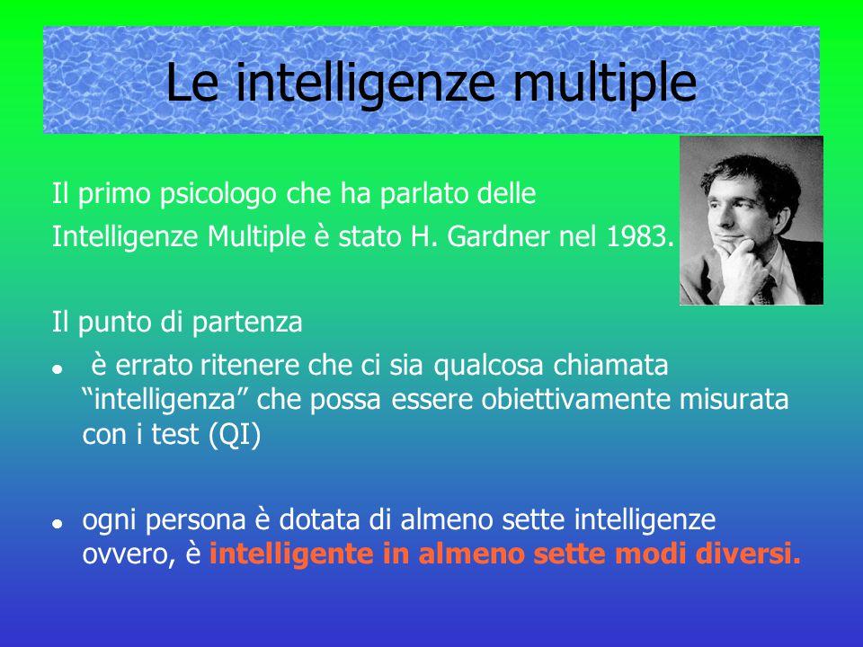 Le intelligenze multiple