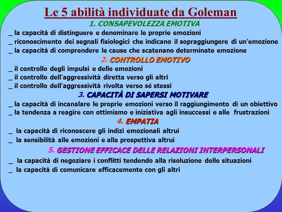 Le 5 abilità individuate da Goleman