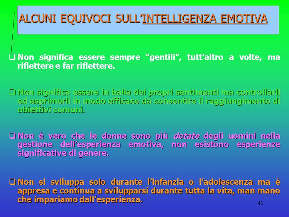 ALCUNI EQUIVOCI SULL'INTELLIGENZA EMOTIVA