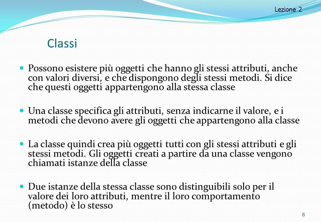 Lezione 2 Classi.