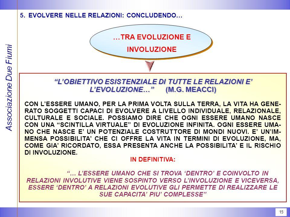 5. EVOLVERE NELLE RELAZIONI: CONCLUDENDO…