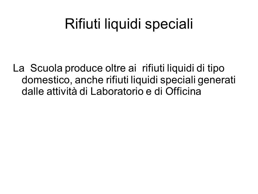 Rifiuti liquidi speciali