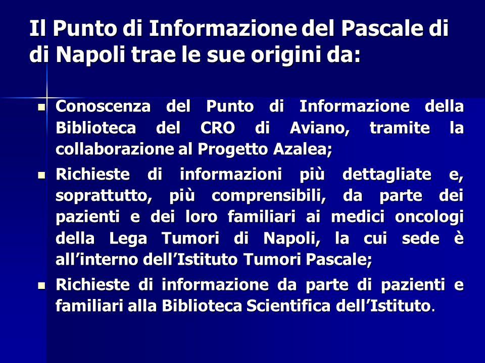 Il Punto di Informazione del Pascale di di Napoli trae le sue origini da: