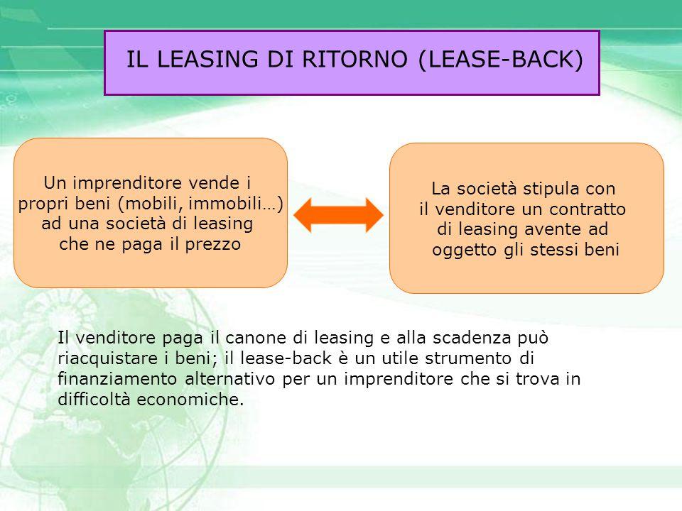 IL LEASING DI RITORNO (LEASE-BACK)