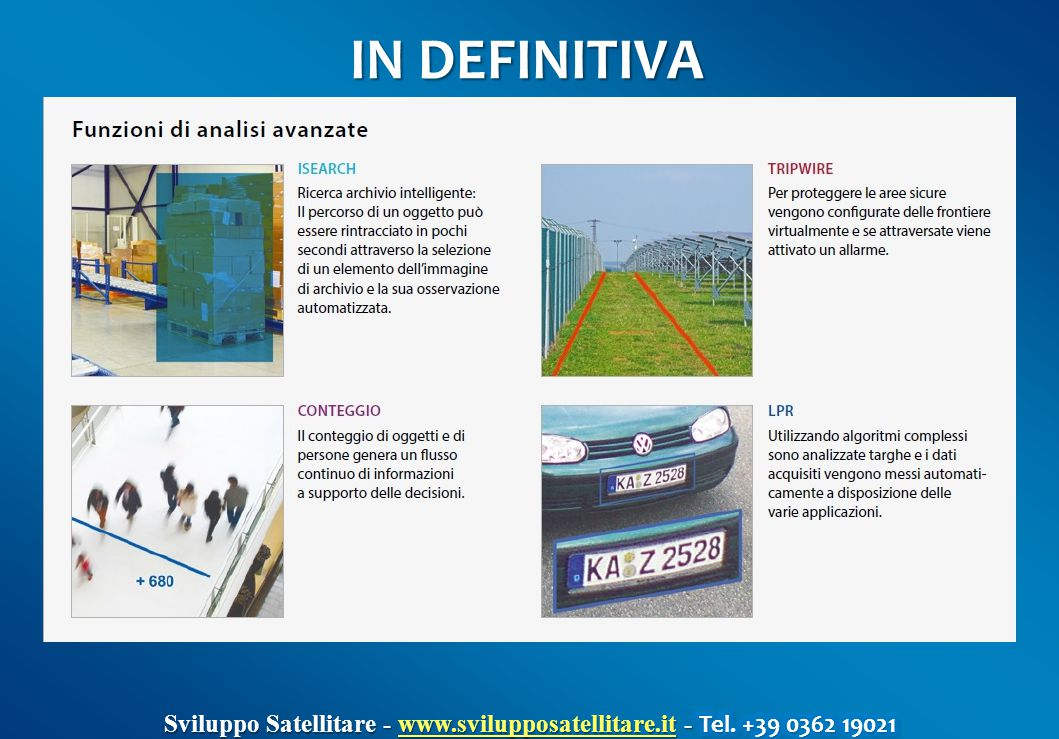 IN DEFINITIVA Sviluppo Satellitare - www.svilupposatellitare.it - Tel. +39 0362 19021