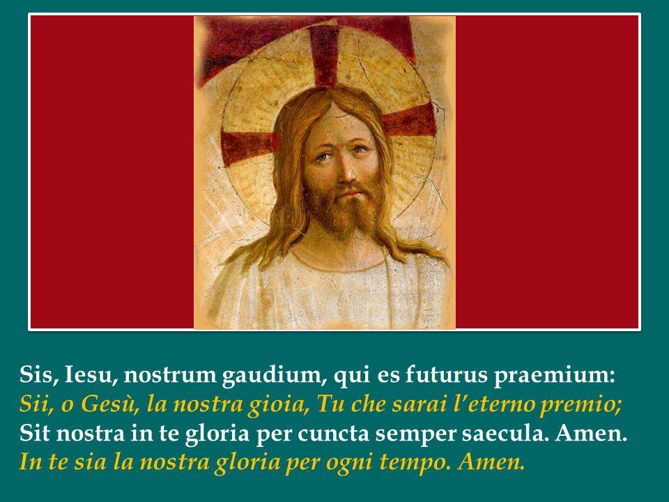 Sis, Iesu, nostrum gaudium, qui es futurus praemium: