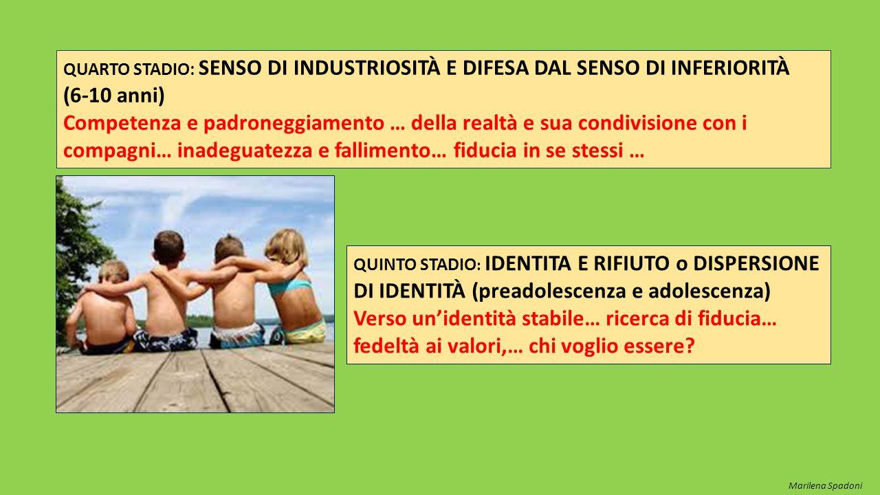 QUARTO STADIO: SENSO DI INDUSTRIOSITÀ E DIFESA DAL SENSO DI INFERIORITÀ