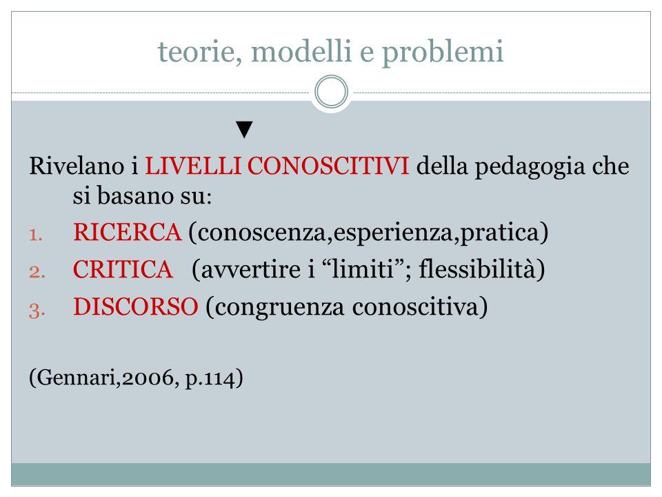 teorie, modelli e problemi