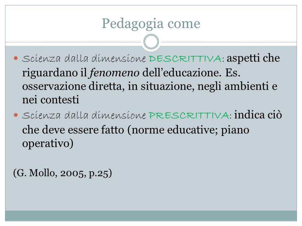 Pedagogia come